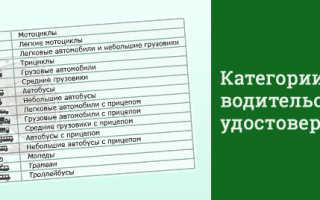 Новые права водительские 2018 расшифровка категорий
