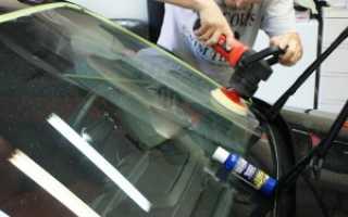 Как полировать лобовое стекло автомобиля